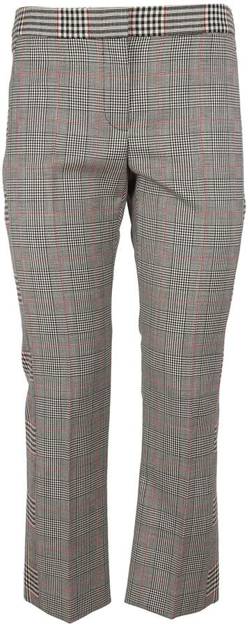 Alexander McQueen Prince Of Wales Cigarette Trousers