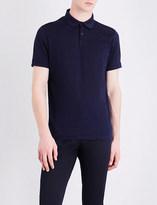 Calvin Klein Hexagon piqué-print cotton polo shirt