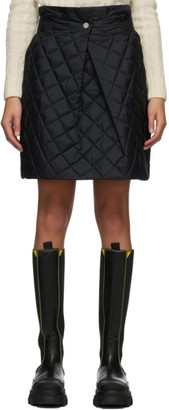 Ganni Black Ripstop Quilted Skirt