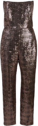 Mason by Michelle Mason Sequin Corset Jumpsuit