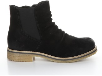 Bos. & Co. Nubuck Rubber HeelAnkle Boots - Beat