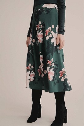 Witchery Printed Yoke Skirt