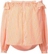 Maison Rabih Kayrouz striped off-shoulder top - women - Cotton - 34