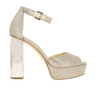 MICHAEL Michael Kors Heeled Sandals Petra Sandal In Lurex Fabric