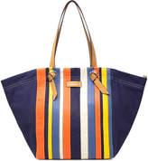 Nautica Women's Handbags INDIGO - Indigo Stripe Dont Be Selfish Tote