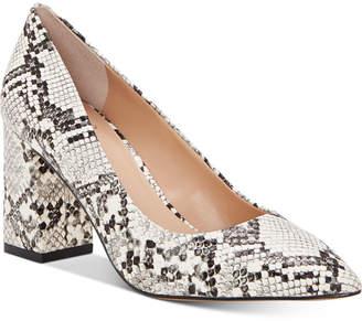 INC International Concepts Inc Bahira Block-Heel Pumps, Women Shoes