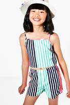 Boohoo Girls Stripe Short & Top Set