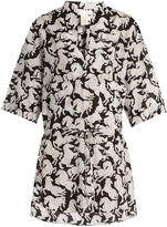 Stella McCartney Running Horses-print cotton-blend shirt