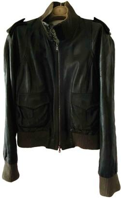 Arfango Green Leather Jacket for Women