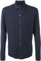 Closed plain shirt - men - Cotton/Spandex/Elastane - S