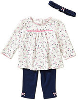 Little Me Baby Girls 3-12 Months Ditsy Floral Tunic, Headband, and Leggings Set