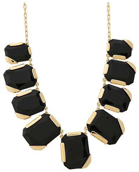 Kate Spade Stepping Stones Graduated Necklace (Black) - Jewelry