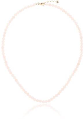 Mateo 14kt Yellow Gold Rose Quartz Necklace