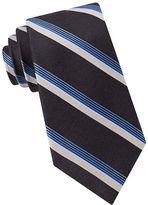 Black Brown 1826 Striped Silk-Wool Tie