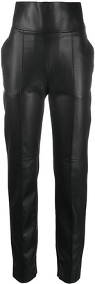 Alexandre Vauthier Slim-Fit Leather Trousers