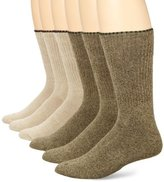 Ecco Men's 6 Pack Comfy Twisted Yarn Sock