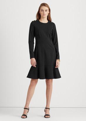 Ralph Lauren Pinstripe Ponte Dress