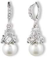 Givenchy Crystal & Glass Pearl Drop Earrings