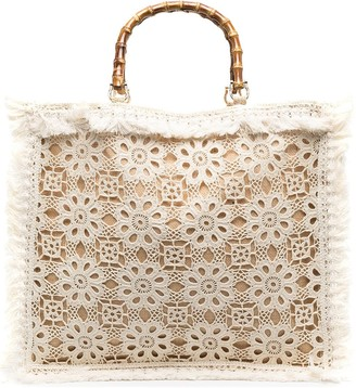la milanesa Floral-Lace Shoulder Bag