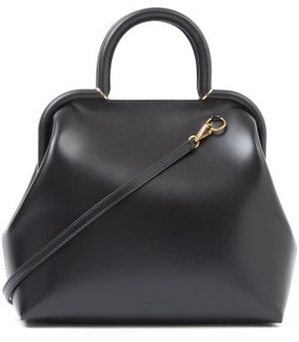 Jil Sander Logo-debossed Small Top-handle Leather Handbag - Black