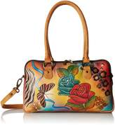 Anuschka Anna by Handpainted Leather Large Multi Comparment Satchel