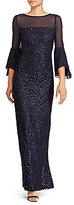 Lauren Ralph Lauren Sequined Mesh Gown