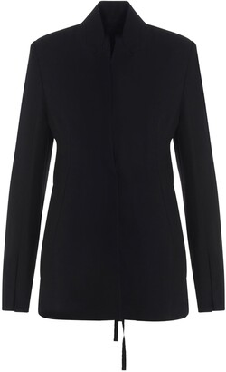 Ann Demeulemeester Single Breasted Fitted Blazer