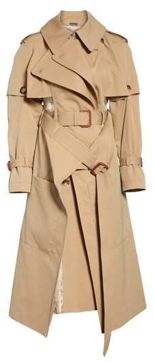 Alexander McQueen Patchwork Floral Jacquard Trench Coat