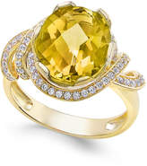 Macy's Citrine (4-1/4 ct. t.w.) and White Topaz (1/3 ct. t.w.) Ring in 14k Gold-Plated Sterling Silver