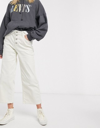 Levi's mile high wide leg jean-Cream