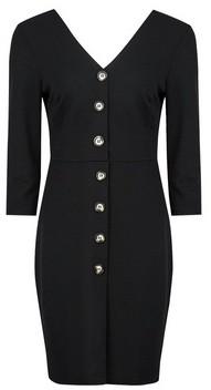 Dorothy Perkins Womens **Black Button Through Shift Dress, Black