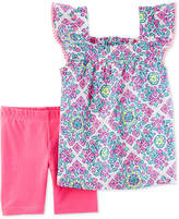 Carter's 2-Pc. Printed Cotton Top and Tumbling Shorts Set, Little and Big Girls