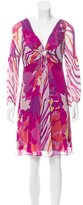 Diane von Furstenberg Silk Tie-Dye Dress