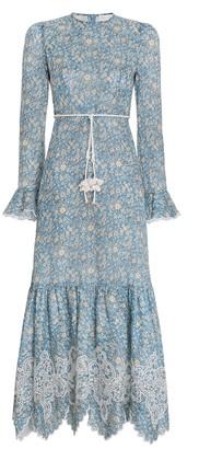 Zimmermann Carnaby Frill Long Dress