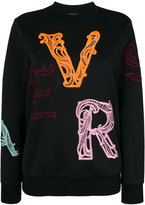 Versace embroidered scuba sweatshirt - women - Polyester/Spandex/Elastane - 40
