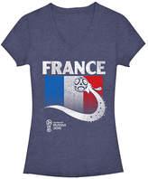 Fifth Sun Navy Heather France Flag Ball FIFA World Cup 2018 V-Neck Tee - Juniors