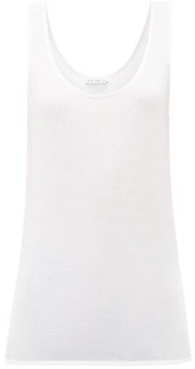 Raey Scoop-neck Cotton-blend Jersey Tank Top - Womens - White