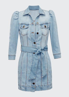 retrofete Lema Belted Denim Dress