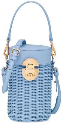 Miu Miu Wicker Detachable Straps Shoulder Bag