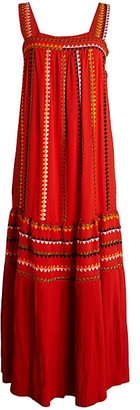 Derek Lam Embroidered Silk Tank Dress