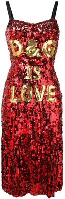Dolce & Gabbana 'D&G is love' sequin dress