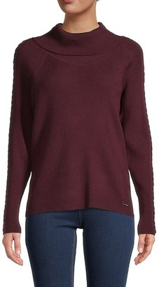 T Tahari Braided-Trim Sweater