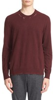 Lanvin Ripped Crewneck Sweater