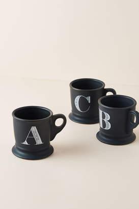 Anthropologie Noir Monogram Mug