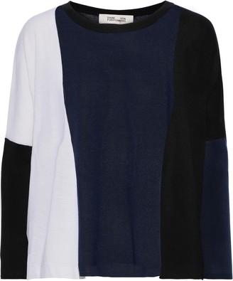 Diane von Furstenberg Danna Ribbed Merino Wool Sweater