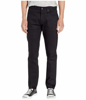 The Unbranded Brand Mens Tapered in 11 oz Solid Black Stretch Selvedge 11 Oz Black Stretch Selvedge 32 34