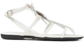 Tod's Logo-appliqued Fringed Leather Sandals