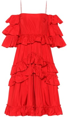 ALEXACHUNG Taffeta ruffled dress