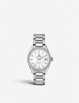 Tag Heuer WBK2316.BA0652 stainless steel, diamond and mother-of-pearl watch