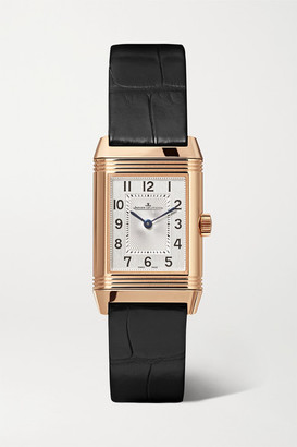 Jaeger-LeCoultre Jaeger Lecoultre Reverso Classic Duetto 21mm Small Rose Gold, Alligator And Diamond Watch